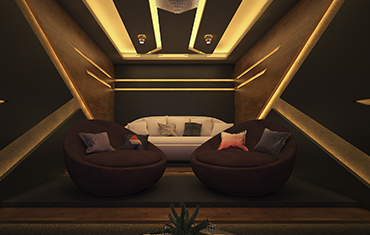 Home Theatre Ceiling & Furniture Ideas - Best Architects & Interior Designers Kerala