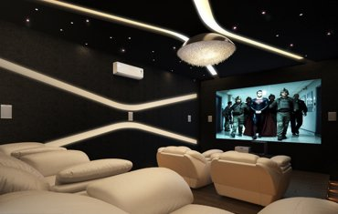 Simple Home Theater Design Plans & Ideas - Monnaie Interiors Kochi, Kerala