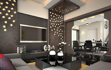 Living Room Wall Art, Grey Shades Color - Top 10 Interior Designers Kochi