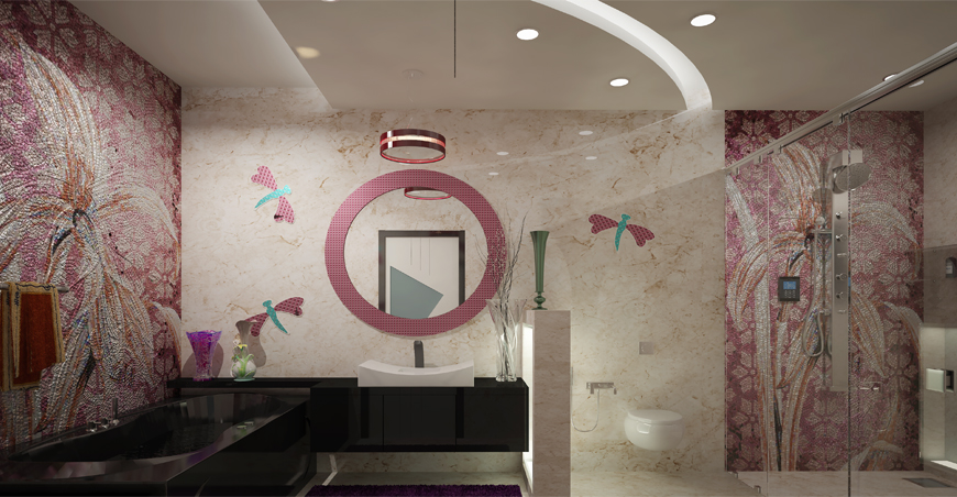 Low cost bathroom designs in Kerala   flat interior ...