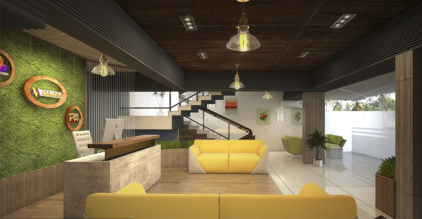 Commercial Interior Designers Kochi, Kerala - Visitors Room Design