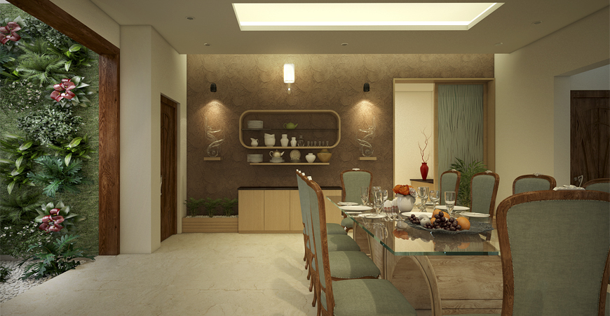 Dining Room Sets & Wall Décor - Best Kerala Interior Designers