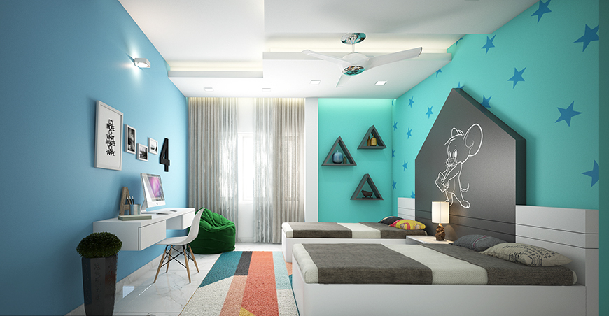 innovative kids room interior design ideas | Kids Bedroom Interior Design Ideas On A Budget ...