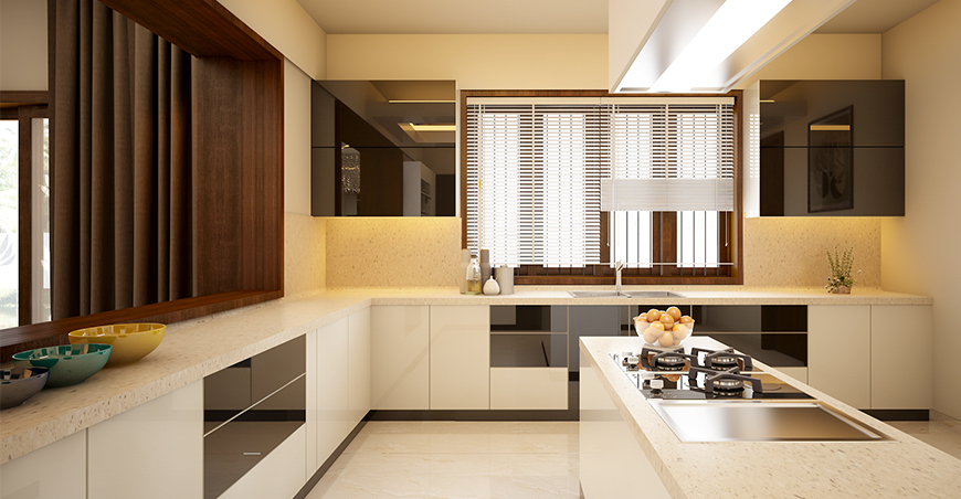 Modular Kitchen Interior Designs Kerala Style Photo Cupboards Price