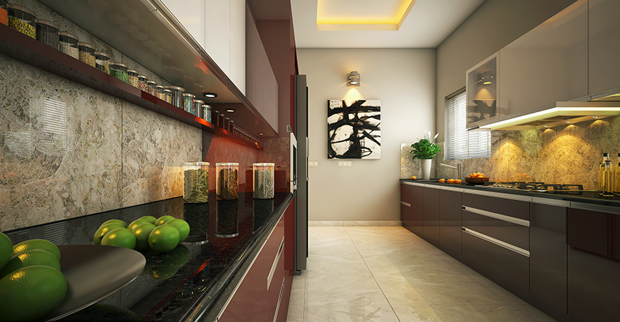 Modular Kitchen Interior Designs Kerala Style Photo