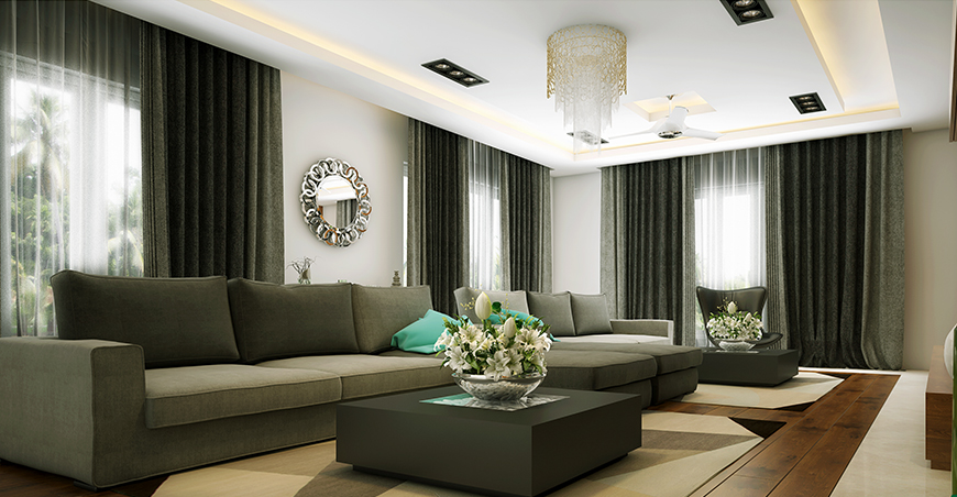 Living Room Interior Designs - Kerala Style House | Small ...